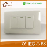 Three Lever One Way Two Way Push Button Wall Switch