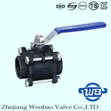 Carbon Steel 3PC High Pressure Ball Valve with Female Thread