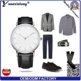 Yxl-599 Leather Strap Watches for Women Vogue Watch Women, Men Military New Genuine Leather Watches, Slim Gold Watch