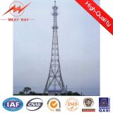 Self Supporting Galvanized Angle Telecommunication Antenna Steel Tower