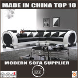 Lounge Furniture Genuine Leather Sofa for Living Room with LED