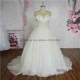 Unique Neckline Design Sexy Bridal Gown