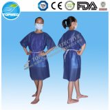 Dark Bulewith out Sleeve Patient Gown/Scrub Suits/Hospital Clothing Tie on