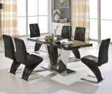 Popular Dining Table and Metal Dining Chair 823#