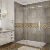 Tempered Bathroom Frameless Glass Sliding Door