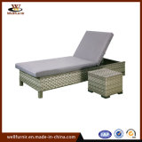 2018 Well Furnir Wicker Outdoor Chaise Lounge with Coffee Table