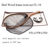Burl Wood Hand Fly Fishing Trout Net
