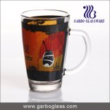 12oz Decal Glass Cup with Handle (GB094212-QT-104)