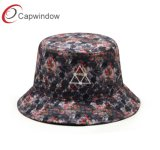 Capwindow New Fashion Cotton Fisher Bucket Hat with Embroidery