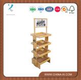 Customized 4 Layers Wood Display Rack Branded Pop Displays