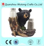 Home Decorative Bear Figurines Cool Resin Pepper Holders