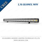 Lmusonu Single Row 29.6 Inch 4X4 Flood Spot Truck Curved Light LED Bar 90W