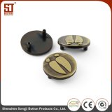 Cutomize Brass Push Metal Crest Button for Jeans