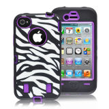High Quality Combo Zebra Case for iPhone4/4s