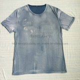 Summer Faded Washing T-Shirt in Man Sport Knitwear Clothes Fw-8676
