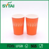 Wholesale Disposable PE Coated Single Wall 12oz Paper Cup with Lid