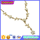 Vintage Europe Gold Jewelry Elegant Flower Necklace for Women