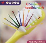 Ultra Soft Compact Toothbrush with Colourful Handle Nylon Bristle