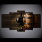 Canvas Print Art Cup Red Wine Impression Oil Painting Decoration Room Send Free Print Image/Canvas