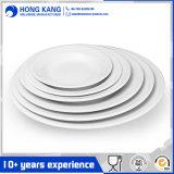 Eco-Friendly Full Size Melamine White Plastic Dinner Plate