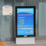 Outdoor Tempered Glass LED Scrolling Light Box Sign
