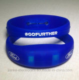 Multicolor LED Flashing Bracelet for Club with Logo Printed (4010)