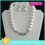 2016 Fashion Women Jewelry Chunky Flexible Crystal Pearl Beaded Necklace