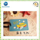 High Quality Plastic Promotional Gift 3D Silicone Luggage Label (JP-LT002)
