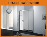 Aluminum Alloy Frame Tempered Glass Free Standing Shower Screen / Bath Door