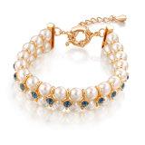 Wedding Engagement Gift Crystal Pearl Jewelry Dubai Gold Beaded Bracelet