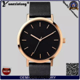 Yxl-683 Gold PVD Plating Black Face Simple Fashion Watch The Horse for Man 2016