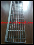 China Jiuwang Hot DIP Galvanized Serrated Bolted Metal Grate Steps
