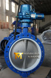 PTFE Liner Electrical Actuator Butterfly Valve with Collaspible Seat