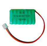 9V 160mAh Ni-mh button cell rechargeable battery
