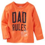 Pure Cotton 4-12years Long Sleeve Children T-Shirt