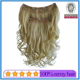 Blond Color Clip Hair Extensions Brazilian Remy Human Hair