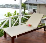 Outdoor Chasie Lounge Wooden Deck Chair Used Sun Lounger / Beach Sofa Chair for Resort