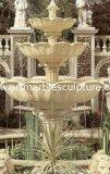 Sandstone Fountain Sculpture in Garden