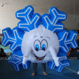 Adult and Child Funny Snowflake Man Inflatable Costume for Party