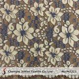 Two Color Eyelash Cotton Flower Lace Fabric Wholesale (M2221)