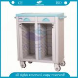 AG-Cht003 Hospital Trolley Equipment Plastic Patient File Cart Documents Cart Trolley