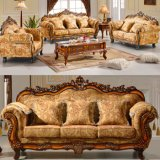 Wooden Fabric Sofa with Table for Home Furniture (D929H)