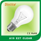 China manufacturer A60 clear incandescent bulb with CE&RoHS