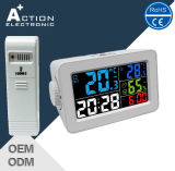 Color Display Weather Station Wireless USB Digital Clock with RF Sensor