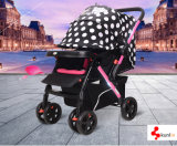 Light Weight Steel Frame Baby Carriages with Wider Space