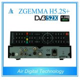 Europe Worldwide Channels HDTV Box Zgemma H5.2s Plus Multistream Dual Core Hevc/H. 265 DVB-S2+DVB-S2X/T2/C Triple Tuners