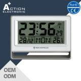 Household Digital Snooze Alarm Clock with Dcf-77 Radio Controlled
