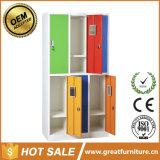 Six Door Metal Locker/Double Color Steel Clothes Cabinet/Two Tier School Locker