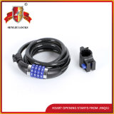 Jq8305-Q Newest Lowest Price Bicycle Lock Motorcycle Lock Spiral Password Lock