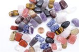 Assorted Natural Gemstone Agate Crystal Square Pendants